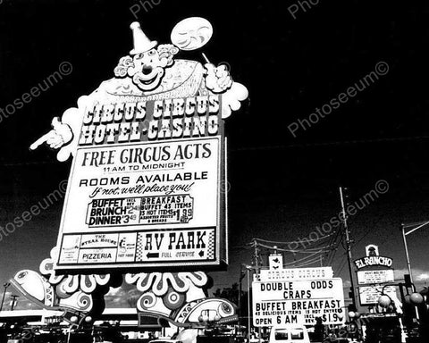 Circus Circus Las Vegas Vintage 8x10 Reprint Of Old Photo