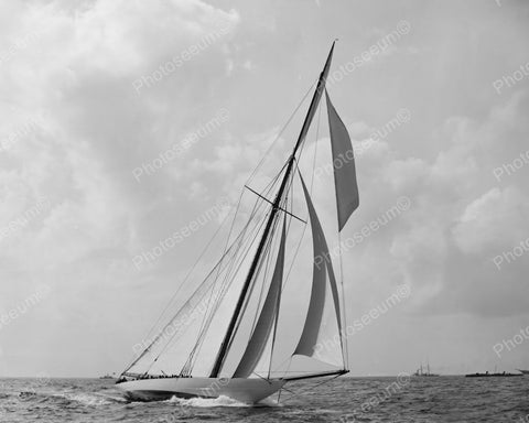 Columbia Sailing Boat 1899 Vintage 8x10 Reprint Of Old Photo