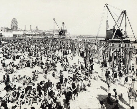 Coney Island Steeplechase Pier1922 Vintage 8x10 Reprint Of Old Photo - Photoseeum