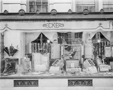 Beckers Store Front Window 1940's Vintage 8x10 Reprint Of Old Photo - Photoseeum