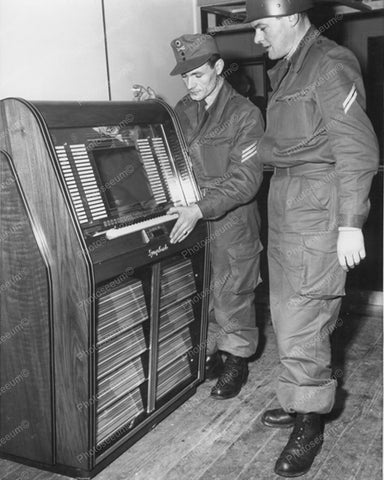 Bergmann Symphonie 80 Jukebox 1950's 8x10 Reprint Of Old Photo