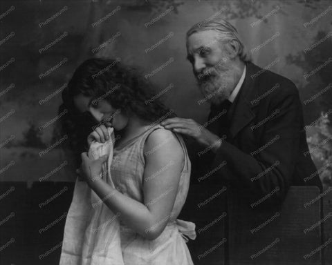 Victorian Bearded Man With Young Woman 8x10 Reprint Of Old Photo - Photoseeum