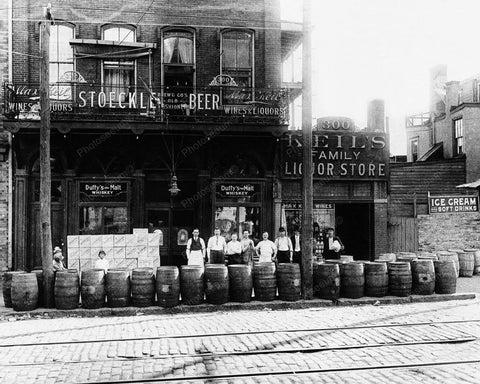 Liquor And Beer Store 1920 Vintage 8x10 Reprint Of Old Photo - Photoseeum