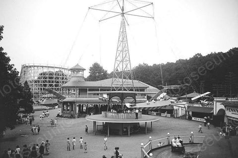 Glen Echo Amusement Park Midway 1920s 4x6 Reprint Of Old Photo