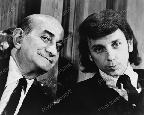 Comic Myron Cohen With Phil Spector Vintage 8x10 Reprint Of Old Photo