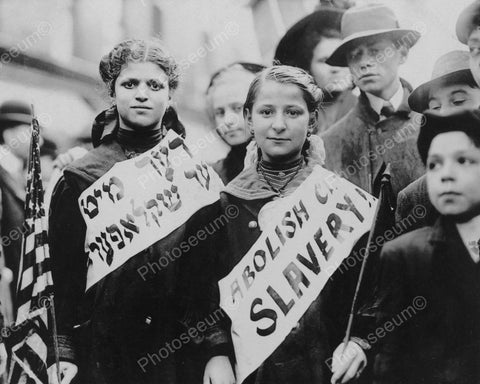 Abolish Child Slavery Demonstration 1909 Vintage 8x10 Reprint Of Old Photo