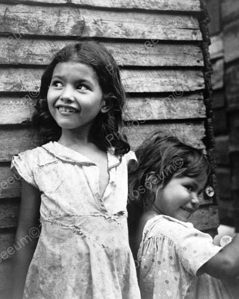 Girls Smile In Ragged Dresses Depression 8x10 Reprint Of ...