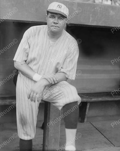 Babe Ruth New York Baseball 1921 Vintage 8x10 Reprint Of Old Photo 1 - Photoseeum