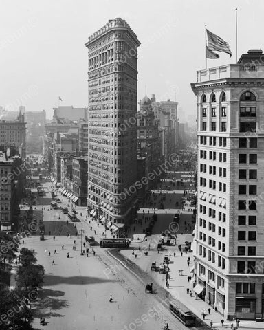 Flat Iron Building NY1908 Vintage 8x10 Reprint Of Old Photo