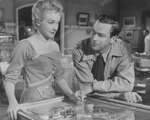 A Couple With Woodrail Pinball Machine 1953 Vintage 8x10 Reprint Of Old Photo