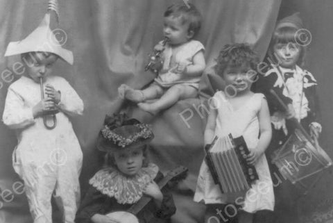 Adorable Tiny Tot Music Group 4x6 Reprint Of Old Photo