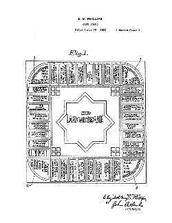 USA Patent Philips Landlord Game 20's Drawings