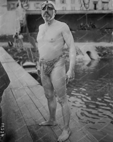 William T Burgess Channel Swimmer 8x10 Reprint Of Old Photo - Photoseeum