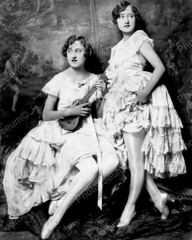 Dolly Sisters Show Girl Vintage 8x10 Reprint Of Old Photo 1