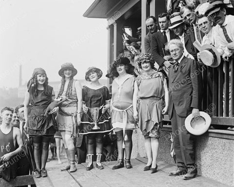 Bathing Beauty Contest Viintage 8x10 Reprint Of Old Photo