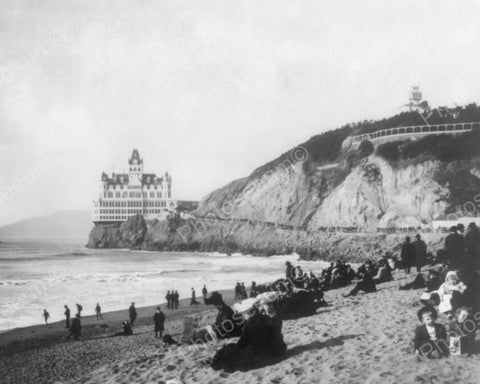 Cliff House Stunning By The Sea! Old 8x10 Reprint Of Photo