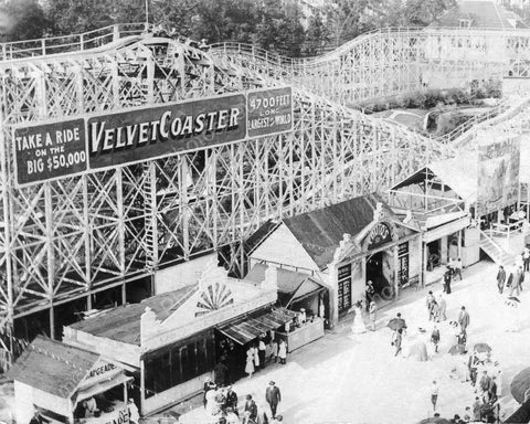 Chicago Velvet Roller Coaster 1910 Vintage 8x10 Reprint Of Old Photo - Photoseeum