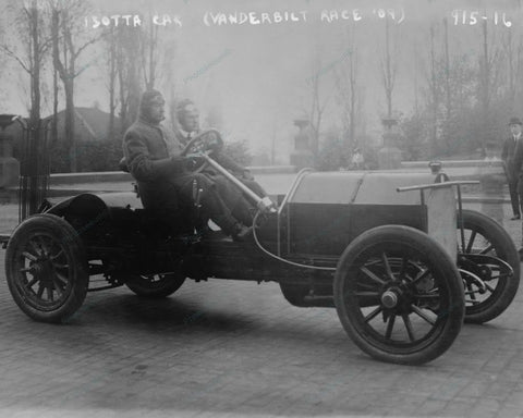 Vanderbilt Isotta Car In Auto Race 1909 Vintage 8x10 Reprint Of Old Photo