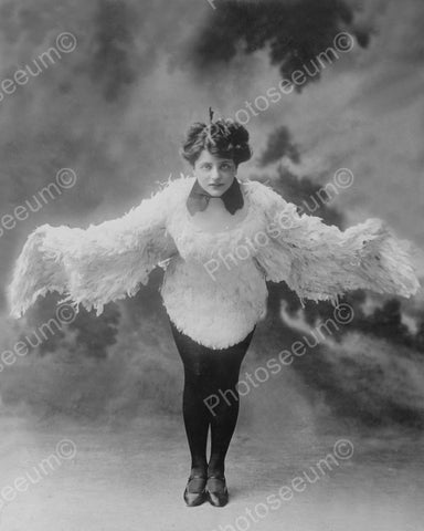 Woman Dressed As A Chicken Vintage 8x10 Reprint Of Old Photo