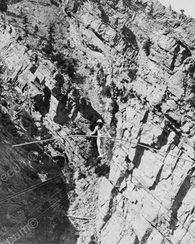 Baldwin's Tightrope Walk Over Gorge! 8x10 Reprint Of Old Photo