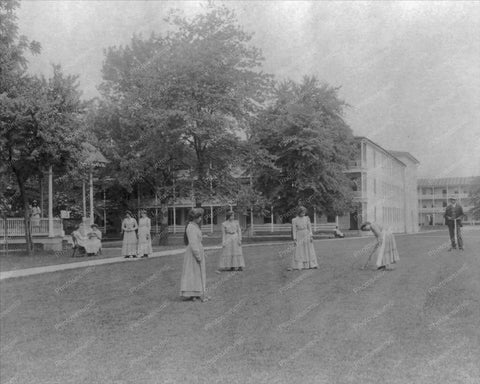 Victorian Ladies Play Croquet 1800s 8x10 Reprint Of Old Photo