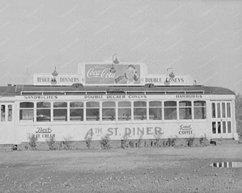Deserted Bus Diner New York 1940s 8x10 Reprint Of Old Photo - Photoseeum