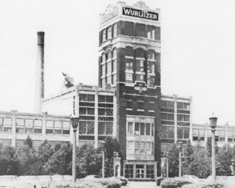 Wurlitzer Factory Vintage 8x10 Reprint Of Old Photo