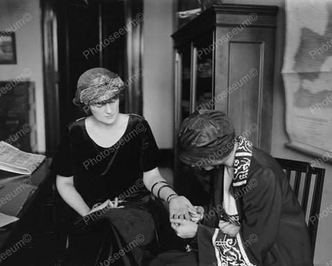 Hand Being Read By Fortune Teller1924 Vintage 8x10 Reprint Of Old Photo