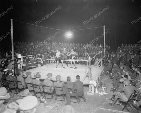 Boxing At Walter Reed Washington DC 1920s Vintage 8x10 Reprint Of Old Photo