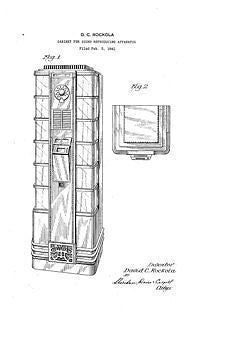 USA Patent Rockola 40's Jukebox Select & Speaker Drawings
