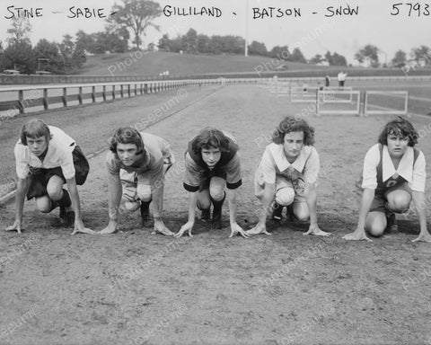 Women About To Race Vintage 8x10 Reprint Of Old Photo