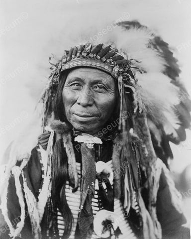 Black Thunder Sioux Indian 1908 Vintage 8x10 Reprint Of Old Photo