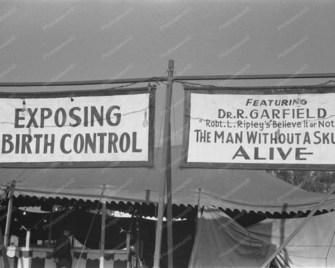 Exposing Birth Control Sideshow 8x10 Reprint Of Old Photo