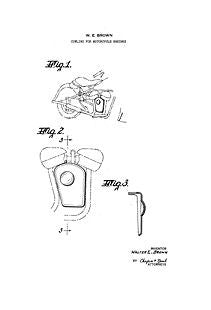 USA Patent Motorcycle 1950's Drawings