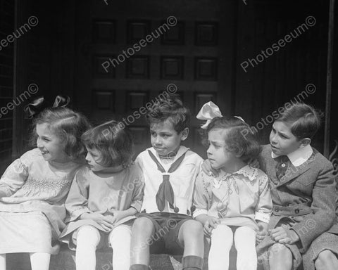Adorable Victorian Children Group Shot! 8x10 Reprint Of Old Photo
