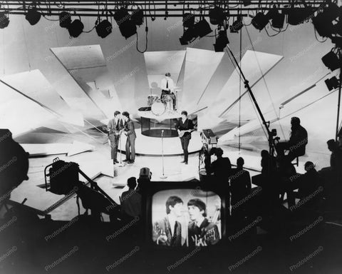 Beatles on the Ed Sullivan Show 1960s 8x10 Reprint Of Old Photo