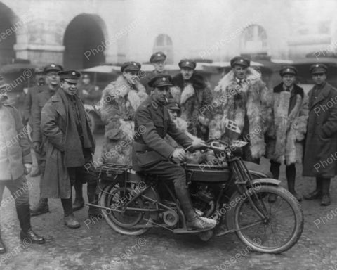 Ambulance Motorcycle Italy World War I 1916 Vintage 8x10 Reprint Of Old Photo