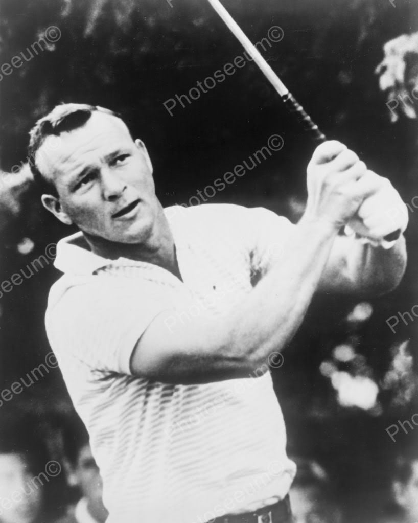 Arnold Palmer Playing Golf Vintage 8x10 Reprint Of Old Photo