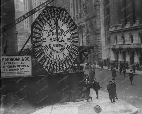 Gigantic YMCA Street Clock New York 8x10 Reprint Of Old Photo