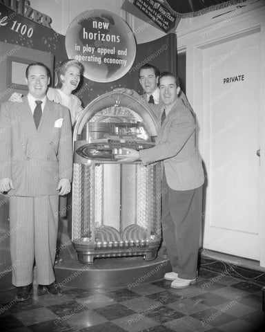 Wurlitzer Jukebox 1100 Launch Party 1948 Vintage  8x10 Reprint Of Old Photo