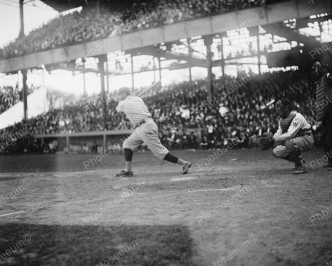 Babe Ruth Hits A Run 1921 Vintage 8x10 Reprint Of Old Photo - Photoseeum