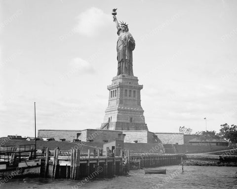 Statue Of Liberty 1910 Vintage 8x10 Reprint Of Old Photo
