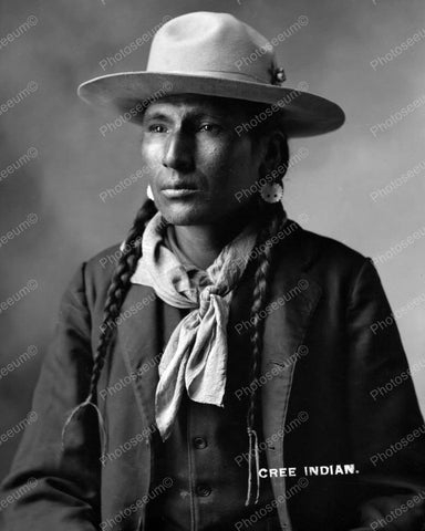 Young Cree Indian Vintage 8x10 Reprint Of Old Photo