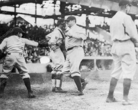 Babe Ruth Playing Baseball 1924 Vintage 8x10 Reprint Of Old Photo