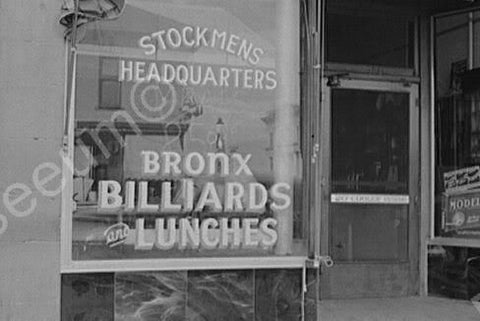 Bronx Billards Wyoming 1940s 4x6 Reprint Of Old Photo