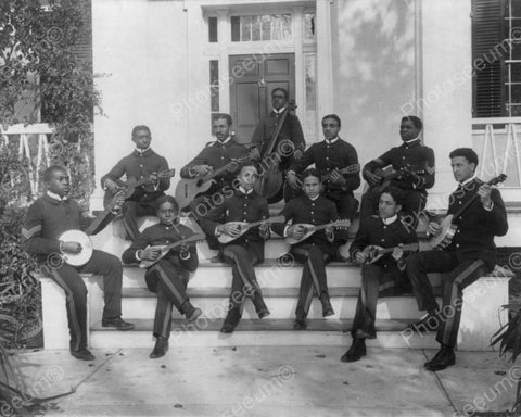 Black Musicians Hampton Institute 1890s  8x10 Reprint Of Old Photo - Photoseeum