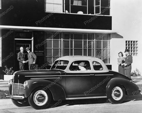 Antique Auto 1940 Studebaker Car 8x10 Reprint Of Old Photo