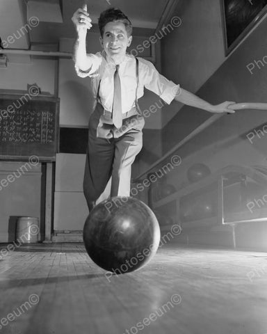 Blind Bowling 1944 Vintage 8x10 Reprint Of Old Photo