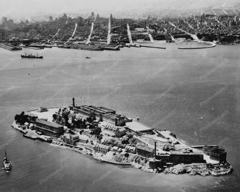 Alcatraz Island Aerial View 1930s 8x10 Reprint Of Old Photo 2 - Photoseeum