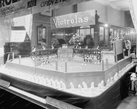 Victrola Baseball Park Window Display 8x10 Reprint Of Old Photo - Photoseeum